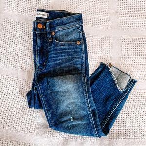 "MADEWELL | 10"" High Rise Skinny Step Hem Jeans 00"